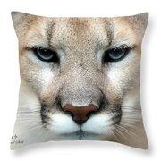 Mountian Lion Throw Pillow