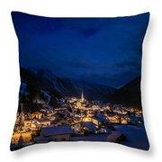 Mountian Village Throw Pillow