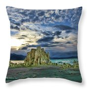 Mountain High At Mono Lake Throw Pillow