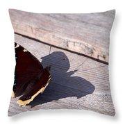 Mourning Cloak Throw Pillow