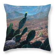 Mourning Dove Desert Sands Throw Pillow