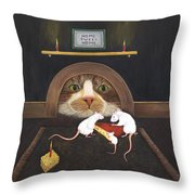 Mouse House Throw Pillow