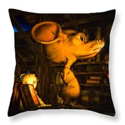 Mouse In The Attic Throw Pillow