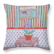 Mouse In The House Throw Pillow