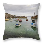 Mousehole Harbour Throw Pillow