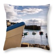 Mousehole Harbour On A May Morning Throw Pillow