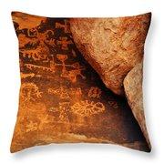 Mouse's Tank Petroglyph Canyon Throw Pillow