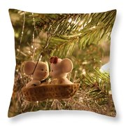 Mousie Love In A Tree Throw Pillow