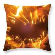 Mouth In The Flame Throw Pillow