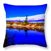 Mouth Of The Two Hearted River Throw Pillow