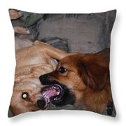 Mouth To Mouth Throw Pillow