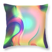 Movement Abstract Ink Digital Painting Throw Pillow