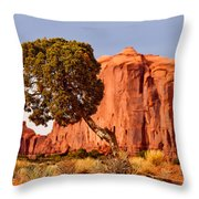 Move Out Of The Way Tree Throw Pillow