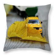 Move Those Leaves Throw Pillow