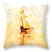 Move With The Waves Throw Pillow