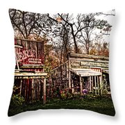 Movie Set Abandoned Western Town Throw Pillow