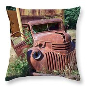 Moving Day In A Chevrolet Throw Pillow