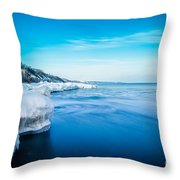 Moving Ice Throw Pillow