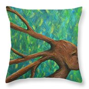 Moving Past The Nature Of Myself Throw Pillow