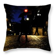 Moving Rain Throw Pillow