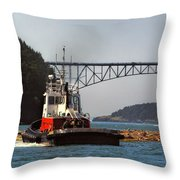 Moving The Logs Throw Pillow
