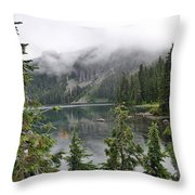 Mowich Lake Throw Pillow