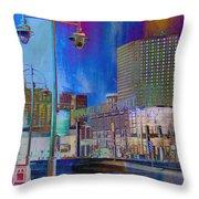 Mpm And Lamp Post Vivid Abstract Throw Pillow