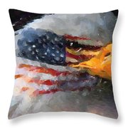 Mr. American Eagle Throw Pillow