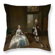 Mr And Mrs Atherton Throw Pillow