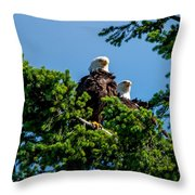 Mr. And Mrs Eagle Throw Pillow
