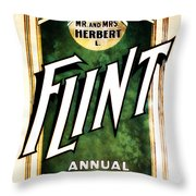 Mr. And Mrs. Flint Throw Pillow