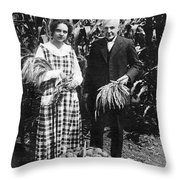 Mr. And Mrs. Luther Burbank Throw Pillow