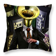 Mr Blue Throw Pillow