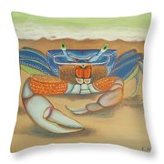 Mr. Blue Crab Throw Pillow