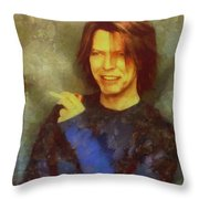Mr Bowie Throw Pillow
