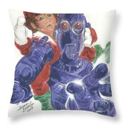 Mr. Gears In Downsized Throw Pillow