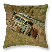 Mr Greenjeans Truck Throw Pillow