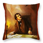 Mr Henry Ludlowe In The Raven Throw Pillow