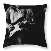 Mick On The Rock And Roll Guitar Throw Pillow