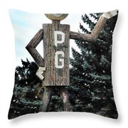 Mr. Pg Throw Pillow