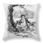 Mr Pickwick, From Charles Dickens A Throw Pillow