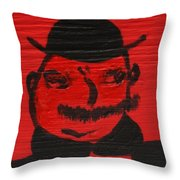 Mr Poldy Bloom Throw Pillow