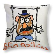 Mr. Potato Head Gone Bad Throw Pillow
