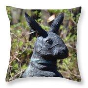 Mr Rabbit 2 Throw Pillow