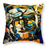 Mr. Rainbow With A Fried Egg Sunny Side Up Throw Pillow