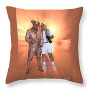 Mr Statue Throw Pillow