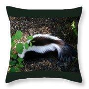 Mr Stinky Throw Pillow