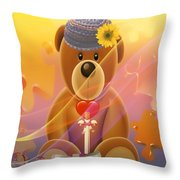 Mr. Teddy Bear Throw Pillow