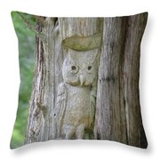 Mr Tingle's Owl Throw Pillow