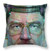 Mr. White Throw Pillow by Jeremy Scott